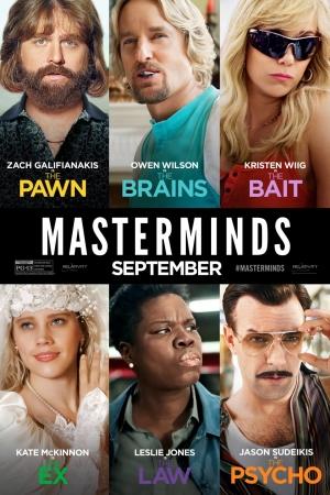 Mastermind (2016) ~ ปล้นวายป่วน - Cover